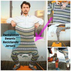 Como hacer Pantalones Swants. Reciclando Jerseis - enrHedando