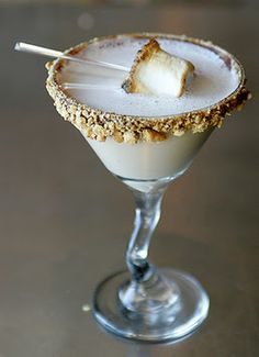 Two Ghosts: S'Mores Martini...  THIS looks uniquely interesting!  Shall?  Instead of Jello shots?