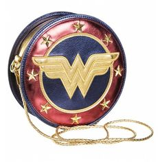 Metallic Wonder Woman Shield Cross Body Bag ($55) ❤ liked on Polyvore featuring bags, handbags, shoulder bags, cross body, metallic shoulder bag, metallic crossbody, crossbody shoulder bag and crossbody purses