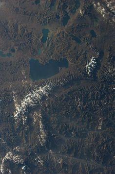 Lakes of Tibet - Astronaut Karen Nyberg tweeted this amazing photo of Tibet, taken from the International Space Station. Credit: Karen L. Nyberg | via Space.com