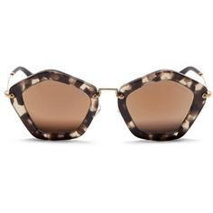 Miu Miu 'Culte' matte shell effect acetate pentagon sunglasses