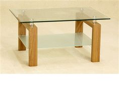 Was £149.99 Now £109.99 The Adina Clear glass coffee table has a clear glass table top with four stunning oak legs attached to chrome accessories holding it together, along with a clear glass undershelf. Up to 70% discount on selcted items. Spend over four hundred and fifty pound and get an extra 5% off. Use discount code PINT5