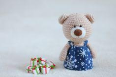 Crochet amigurumi teddy bears in the dresses - small teddy bear, personalized…
