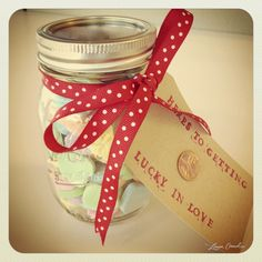 diy valentine {lucky in love jar}