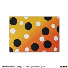 Dots On Blended OrangeToYellow Post-it® Notes