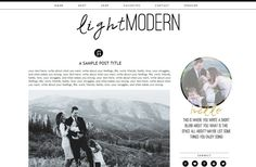 Premade Blogger Template  Light Modern  by MissAudreySueDesigns, $25.00