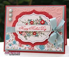 What a lovely card from Anne-Marie. Her creations are always so beautifully embellished - I have one on my desk right now!