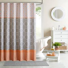 product image for Intelligent Design Clara 72-Inch Shower Curtain in Orange