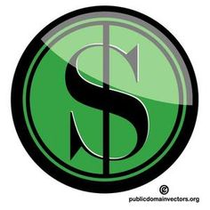 Vector graphics of a symbol of American currency.