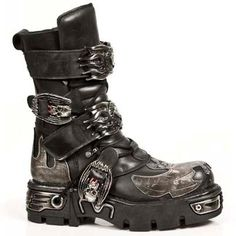 New Rock Boots - 145 C3 Bat Buckle Boots 30 DAYS CUSTOM MAKE ONLY