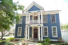 Located in Elletsville's Historic District, this authentic three-bedroom, one-bath Greek Revival home has original charm coupled with modern conveniences (like a full gourmet kitchen).  See more at Circa Old Houses »   - HouseBeautiful.com