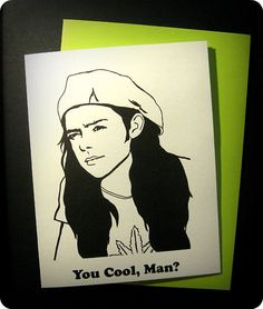 Slater Dazed and Confused Card by Reddropdrop on Etsy, $4.00
