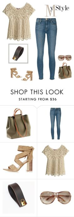 """""""Bella Cuffs & Lock Cufflink"""" by bellastreasure ❤ liked on Polyvore featuring Frame Denim, River Island, Calypso St. Barth and Tom Ford"""