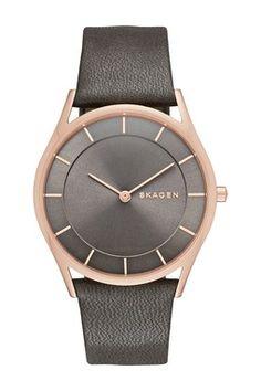 Women's Holst Slim Genuine Leather Strap Watch