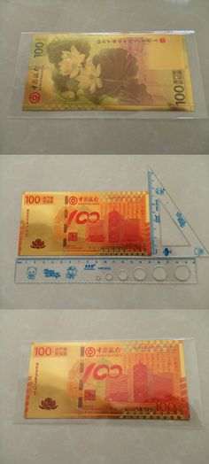24k Gold Foil Banknote Chinese Traditional 100 Macao Lotus Paper Money Collection Souvenir Vintage Home Decor Make Money Selling
