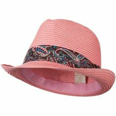 5cc3bd7aeb9 Fedora Hat with Paisley Band Love Hat