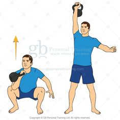 kettlebell squat and press or thruster