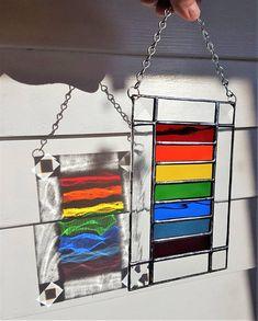 Stained Glass Rainbow Suncatcher 7 1/4 x 5