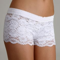 White over White Lace Boxer cute for honeymoon
