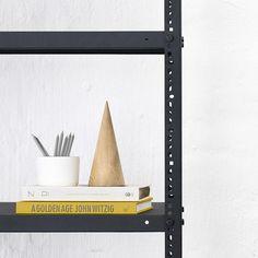Office steel shelving - powder coated - sand black – vanStaal