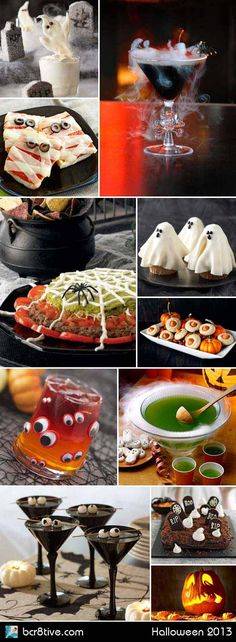 The best part of a Halloween party is the spooky snacks and drinks. Here's some Creative Halloween Party ideas that are extra fun and tasty. Buffet Halloween, Soirée Halloween, Halloween Drinks, Halloween Goodies, Halloween Food For Party, Halloween Birthday, Holidays Halloween, Halloween Treats, Halloween Decorations