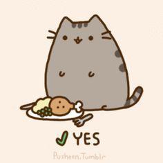 Pusheen the cat * ¡Nyan Cat (arriba)! Chat Kawaii, Kawaii Cat, Kawaii Alpaca, Fat Cats, Cats And Kittens, Tabby Cats, Crazy Cat Lady, Crazy Cats, Pusheen Gif