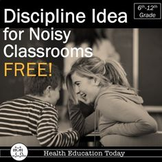 Effective Discipline Idea for Noisy Classes FREE! by Mrs S's Health and PE Resources Secondary Resources, Learning Resources, Teacher Resources, Teacher Tips, Classroom Procedures, Classroom Management, Health And Physical Education, Teacher Freebies, Thing 1