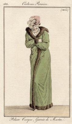 Pelisse Turque. Costume parisien, 1812