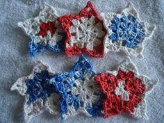 7 Beautiful Crochet Cotton Stars Coasters Set by flower on Zibbet