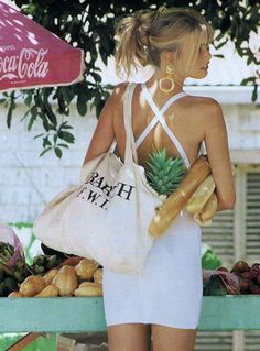 """Claudia Schiffer """"White Washed"""" Vogue US, January 1992 Photo by Marc Hispard"""