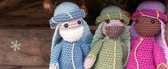 Three wise men reyes magos amigurumi crochet free pattern