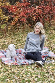 Blonde, Brunette, Redhead sweatshirt - fall outfits