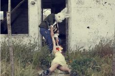 The FBI discovered a mysterious photograph behind a dumpster in 1982 which showed a man in a bunny mask dragging a woman into a building.