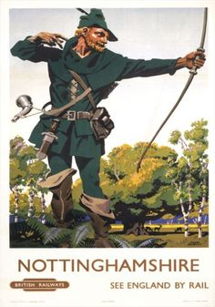 Nottinghamshire - vintage travel poster