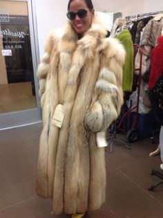 This is one of the most beautiful coats and is made of the lovely Natural Golden Island Fox pelts! The coat is full skin, and has the most exquisite detailing. The entire coat is.gorgeous. The jacket is incredibly light weight, has pockets and hidden hook and eye closures. | eBay!