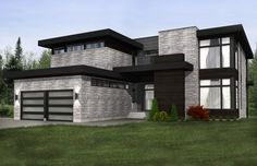 one storey house exterior design with portico design for small house in india and minimalist modern house floor plan also home depot exterior paint quart Modern House Floor Plans, Contemporary House Plans, Dream House Plans, Modern House Design, Style At Home, One Storey House, Australia House, Small Modern Home, House Blueprints