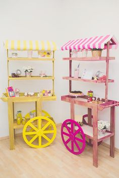 A fleet barrows retail stall market display wedding candy carts for sale or rent Sweet Carts, Candy Cart, Candy Table, Candy Shop, Craft Fairs, Wood Projects, Diy And Crafts, Display, Decoration