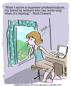 Tip for aspiring writers: Make a routine and then stick to it. - Inkygirl