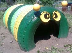 Ideas for the playground. Crafts from tires. / Mamuli raise kids / Mamuli.info - advanced Moms Community