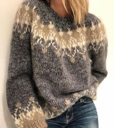 Women's Fashion Long Sleeve Fair Isle Sweater Plus Size Oversized Swea – undaylily Source by UndaylilyShop Icelandic Sweaters, Cooler Look, Fair Isles, Sweater Knitting Patterns, Sweater Design, Pulls, Knitwear, Womens Fashion, How To Wear
