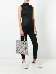 OUTFIT | Pleats please + Bao Bao Issey Miyake Lucent tote + McQueen sneakers