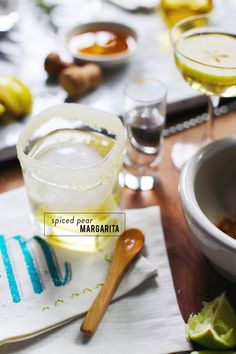 Read More: http://www.stylemepretty.com/living/2015/03/03/a-pear-cocktail-two-ways/