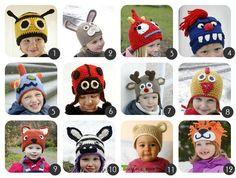 Cappellini a uncinetto per bambini: Raccolta di Schemi in italiano.