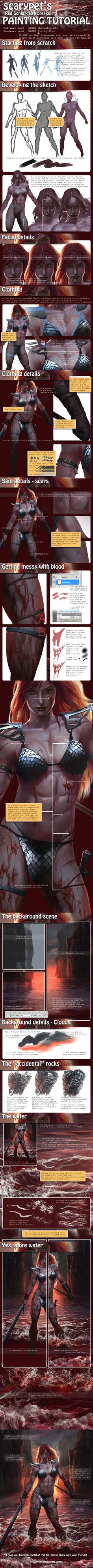 Scarypet's 'Red Sonja' Painting Tutorial by scarypet on DeviantArt