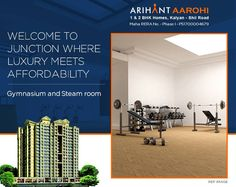 Arihant Aarohi  Kalyan Shill Road - 1 2 & 3 BHK Flats - 3 Towers, Stilt+18 Storeyed, Residential Cum Commercial Project  Gymnasium and Steam Room  #Maharera Number for Phase I - P51700004679  http://www.asl.net.in/arihant-aarohi.html  #ArihantAarohi #RealEstate #Homes #Property #Residential #Commercial #KalyanShillRoad