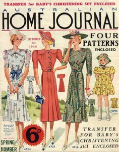 For all my Australian followers. Here are some lovely vintage Australian Home Journal covers and Home Budget inside pages from the 1920s and 30s to inspire you.