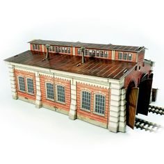 Locomotive shed cardboard model H0 scale 1/87 buy online