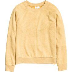 Sweatshirt $14.99 (41.825 COP) ❤ liked on Polyvore featuring tops, hoodies, sweatshirts, h&m, long sleeved, beige top, long sleeve tops, beige long sleeve top, ribbed long sleeve top and long sleeve sweatshirts