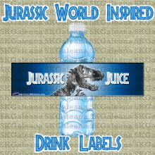 Drink Label Free Printable | Jurassic World Printables, Activities and Crafts | SKGaleana