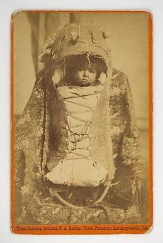 Native-American-Indian-Cabinet-Card-Yuma-Baby-in-Papoose-by-E-A-Bonine-of-L-A